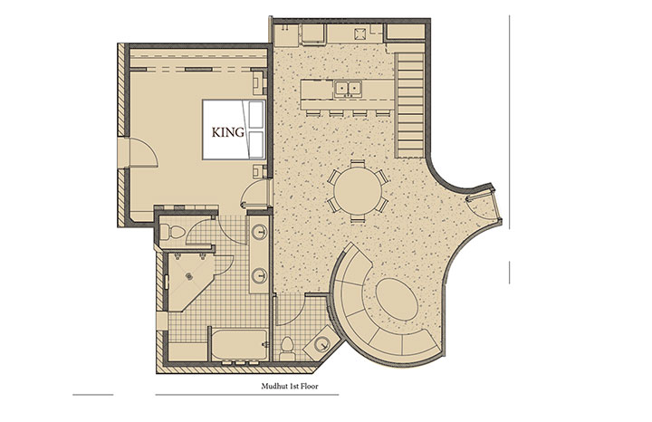 Mud Hut 1 Floorplan