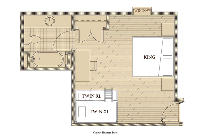 Vintage Hunter Suite Floorplan
